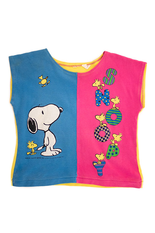 Snoopy Pink And Blue T-shirt