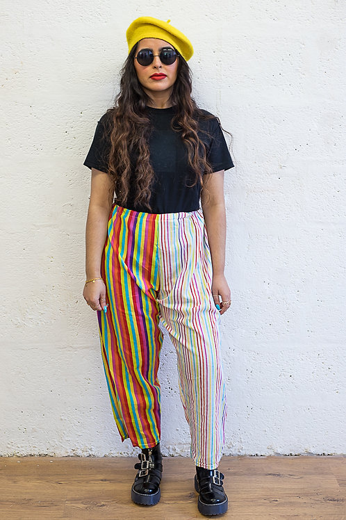 Rainbow Stripe Trousers