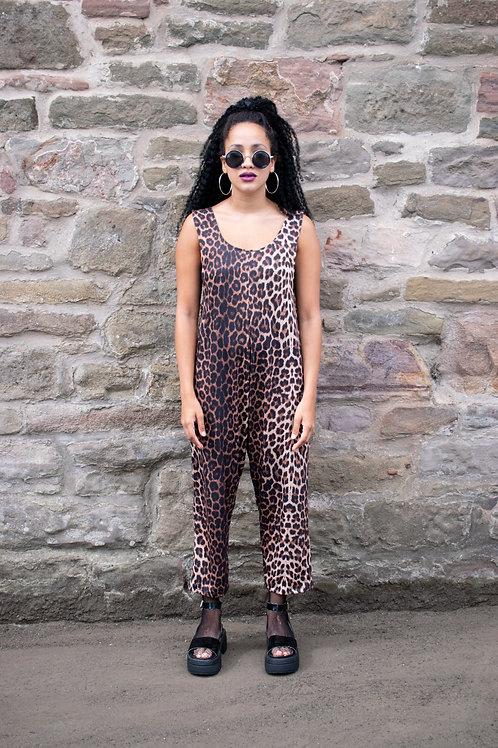 Dreamland Leopard Print Jersey Jumpsuit - PRE ORDER