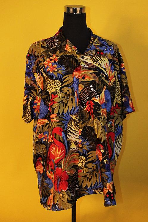 1980s Vintage Jungle Print Shirt