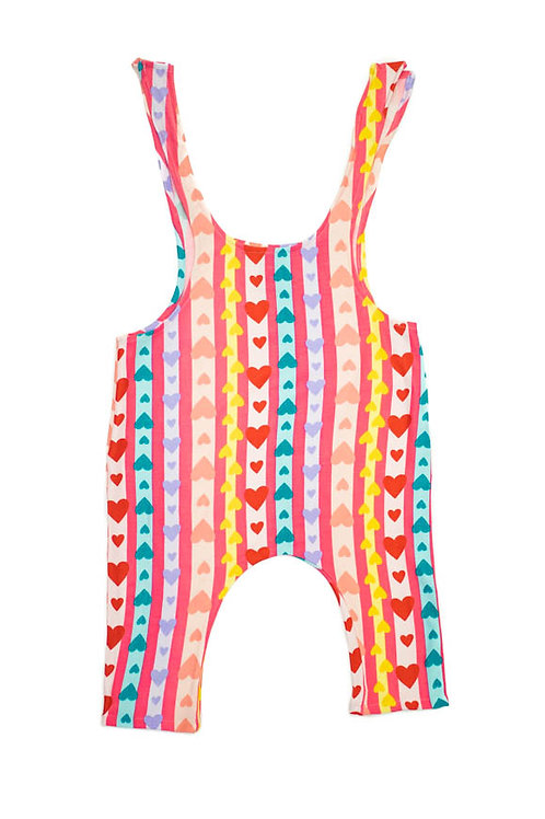 Pastel Rainbow Hearts Tie Top Jumpsuit – Limited Edition