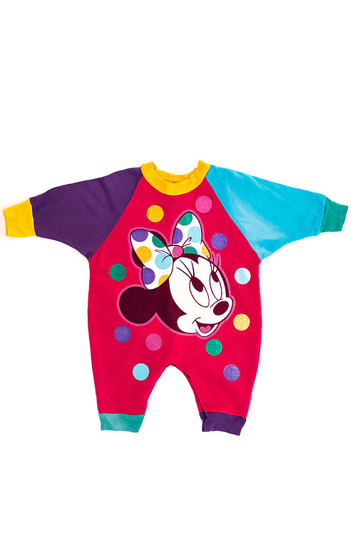 Colourful Minnie Mouse Babygrow