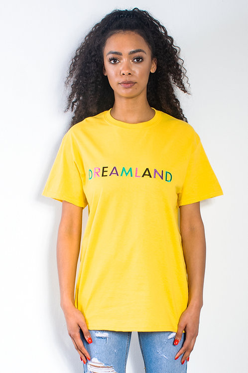 Yellow Dreamland Embroidered T-shirt