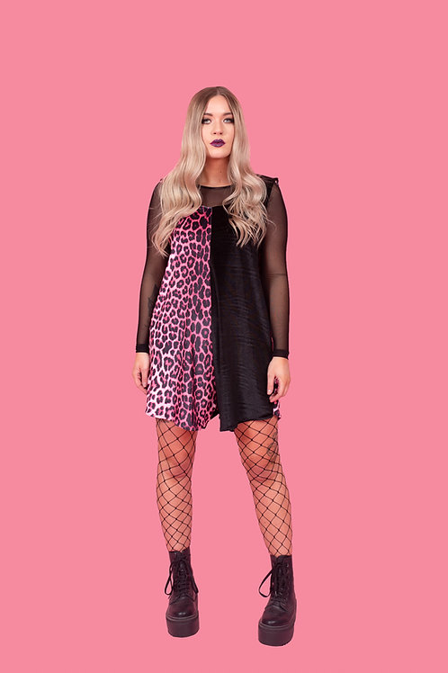 Candy Pink Leopard Print Playsuit