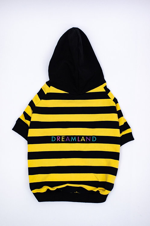 Dreamland Doggy Yellow and Black Dog Hoodie