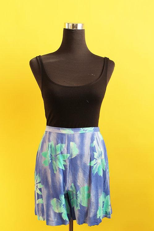1980s Vintage Floral Shorts