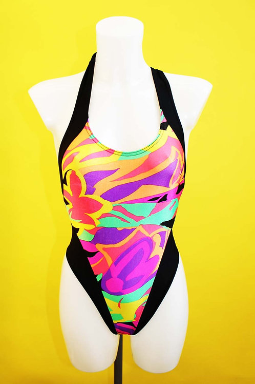 Neon Cross Back Swimsuit