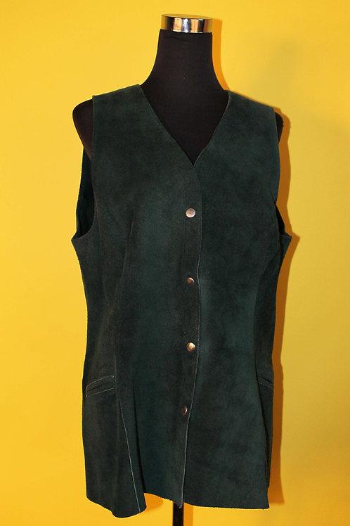 1980s Vintage Dark Green Waistcoat