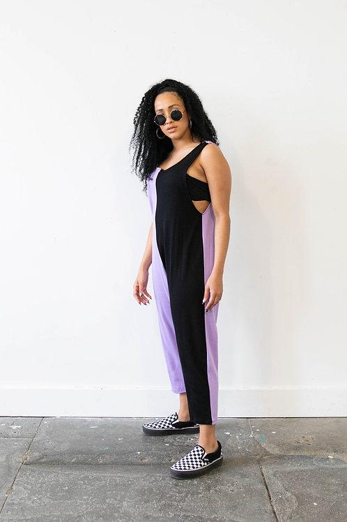 Dreamland Lilac Colour Block Jumpsuit