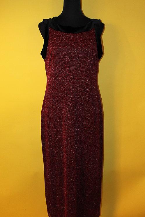 1980s Vintage Red Sparkly Dress