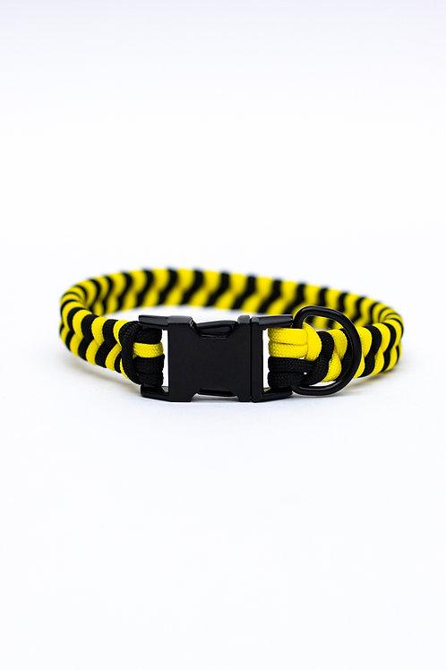 "Dreamland Doggy X Daft Pup 13"" Black and Yellow Collar"