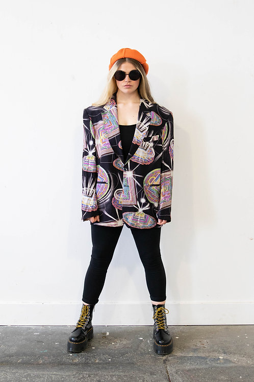 Blazer in Abstract Paisley Print