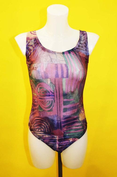 80's Purple Swimsuit
