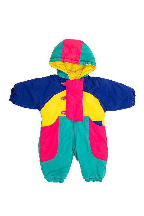 Colour Block Baby Snowsuit