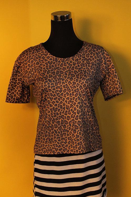 1980s Vintage Leopard Print Top