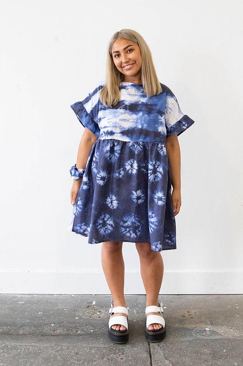 Oversized Ocean Tie-Dye Kelly Dress