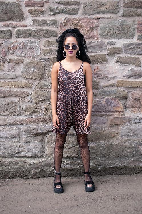 Dreamland Leopard Print Jersey Playsuit