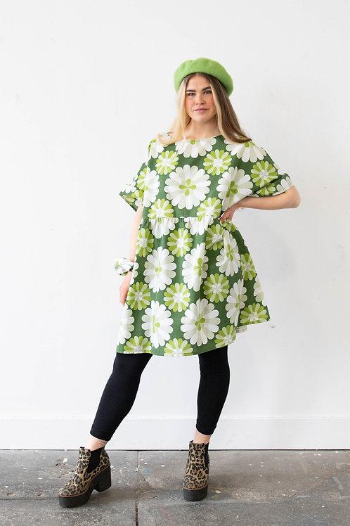 Oversized Flower Print Kelly Dress