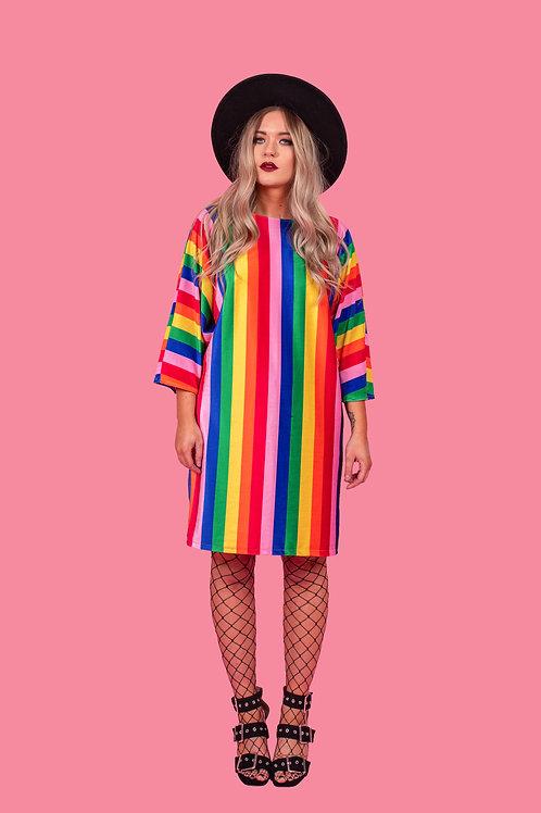 Circus Print Batwing Dress
