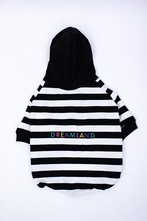 Dreamland Doggy Black and White Dog Hoodie