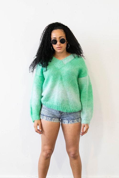 Mint Mohair Knitted Jumper