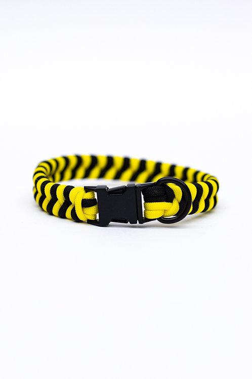 "Dreamland Doggy X Daft Pup 11"" Black and Yellow Collar"