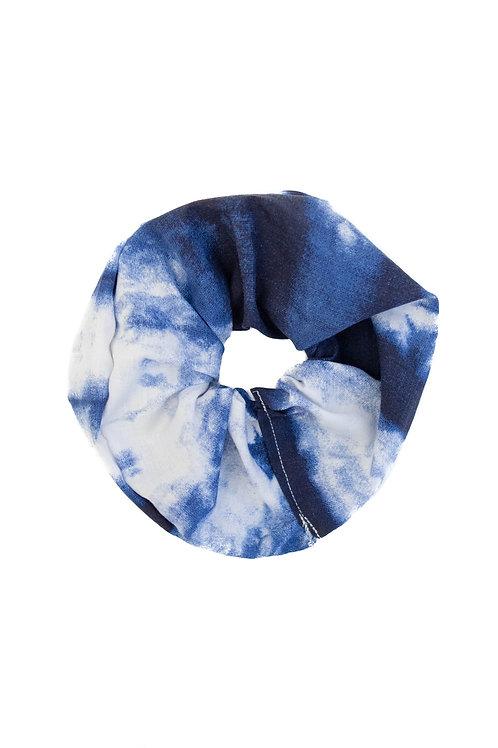 Blue Tie Dye Scrunchie