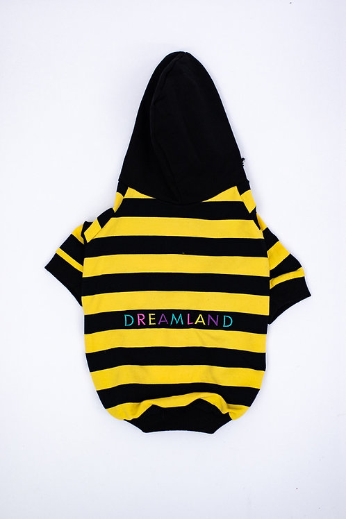 Dreamland Doggy Yellow and Black Dog Hoodie