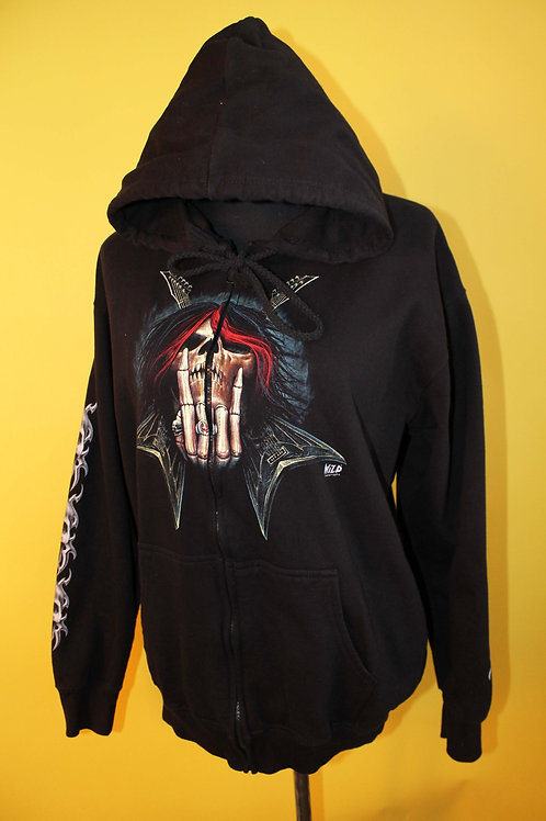 1990s Vintage Graphic Hooded Jumper