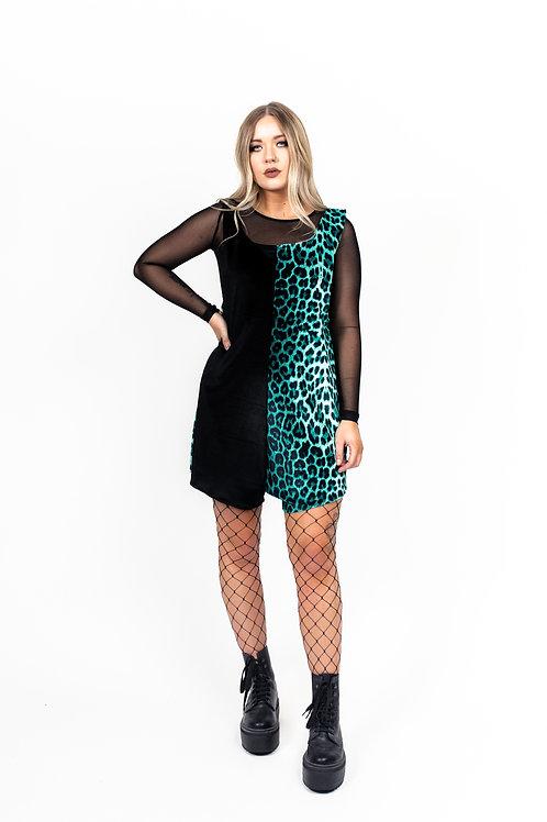 Ocean Green Leopard Print Playsuit