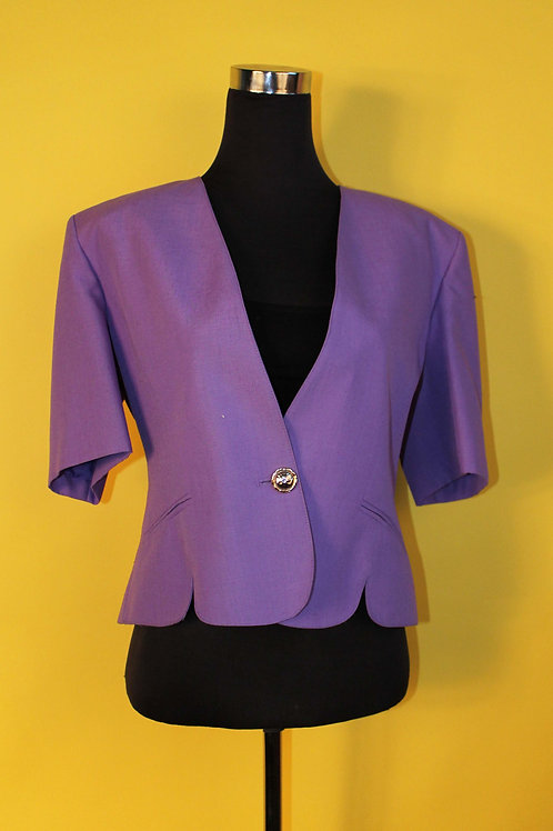 1980s Vintage Fitted Lilac Blazer