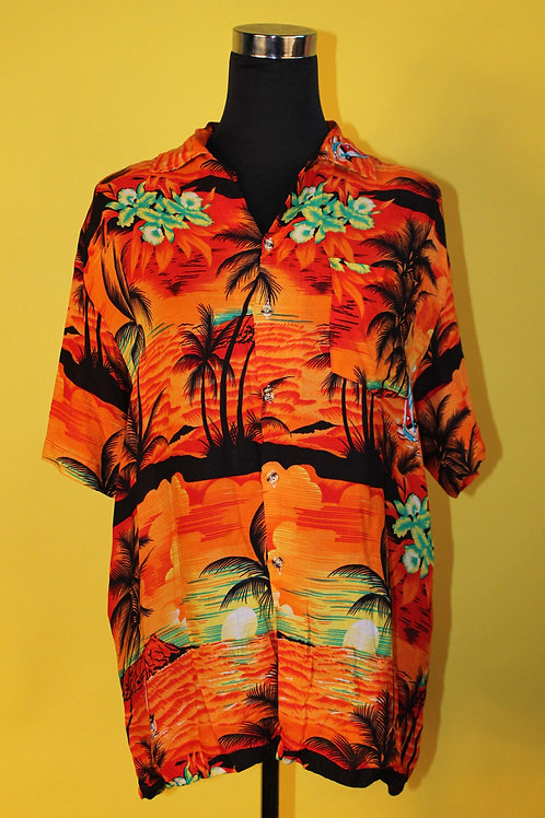 1980s Vintage Hawaiian Graphic Shirt