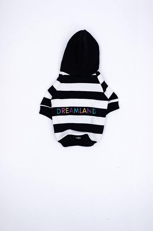 Dreamland Doggy Black and White Dog Hoodie