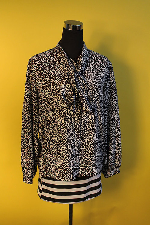 1980s Vintage Tie Front Shirt