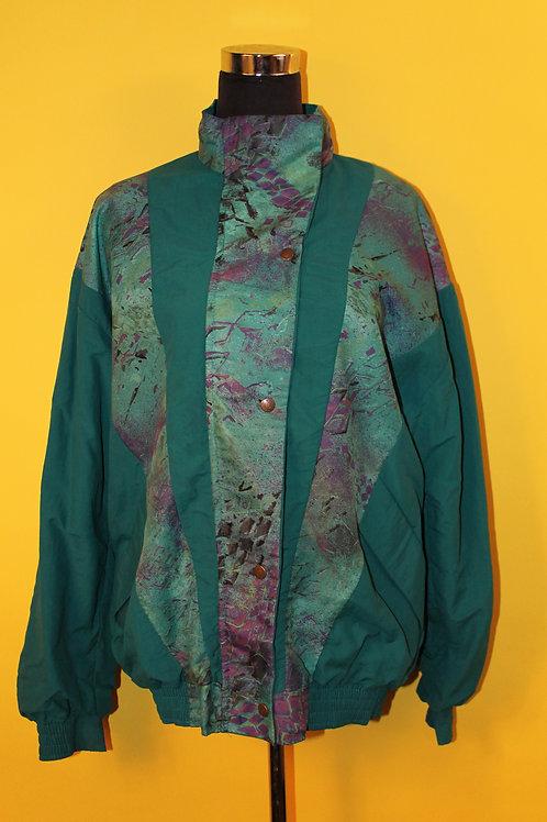 1990s Vintage Waterproof Turquoise Jacket