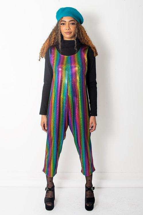 Rainbow Stripe Metallic Jumpsuit