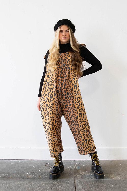 Leopard Tie Top Dungarees