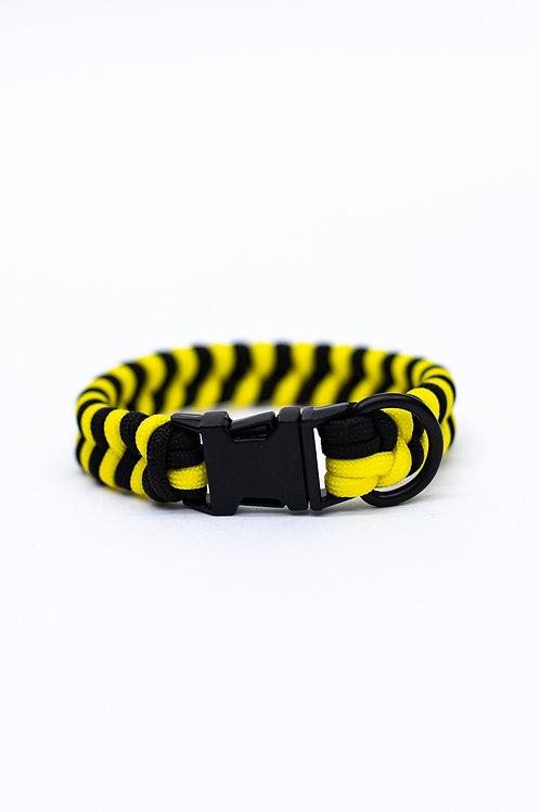 "Dreamland Doggy X Daft Pup 9"" Black and Yellow Collar"