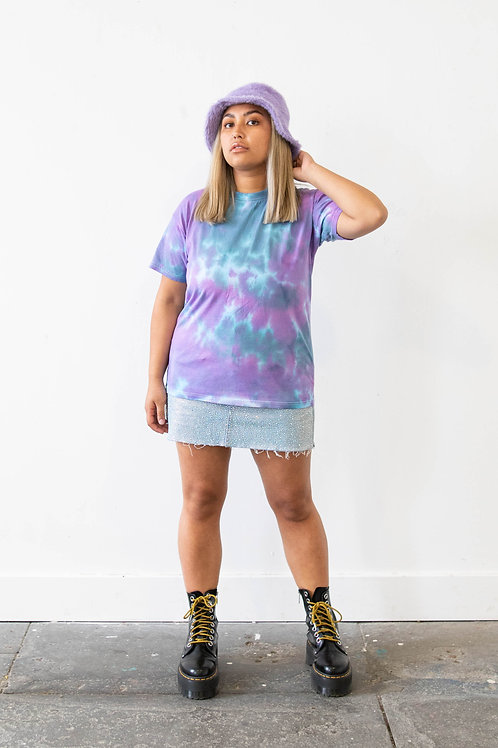 Blue and PinkTie Dye Top