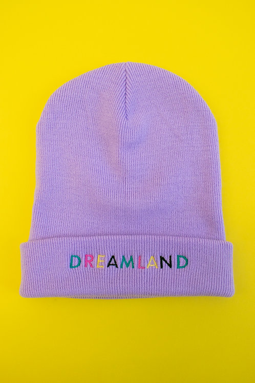 Lilac Dreamland Embroidered Beanie