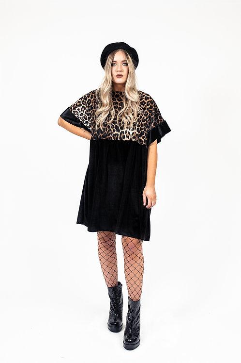 Classic Leopard Print Kelly Dress [Leopard Upper]
