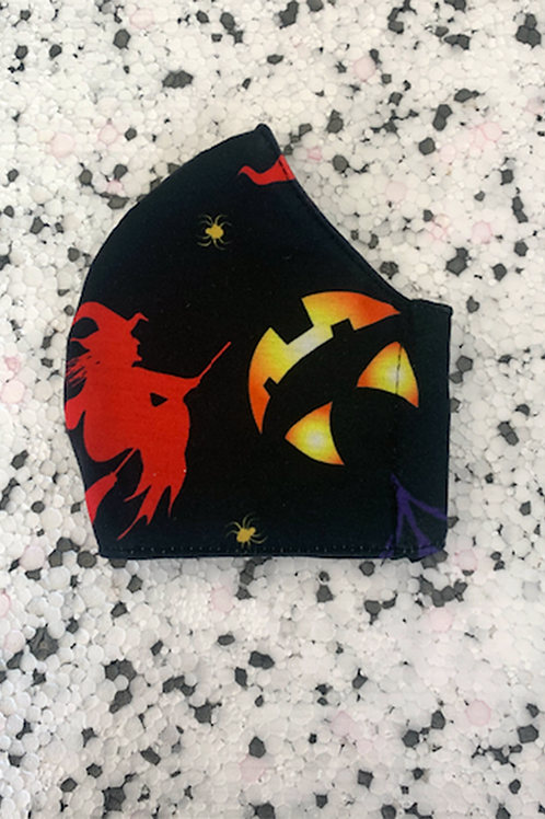 Witches and Pumpkins Jersey Face Mask