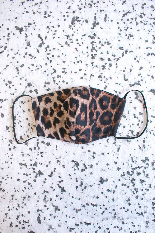 Dreamland Leopard Jersey Face Mask