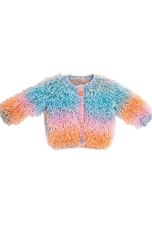 Pastel Rainbow Baby Cardigan