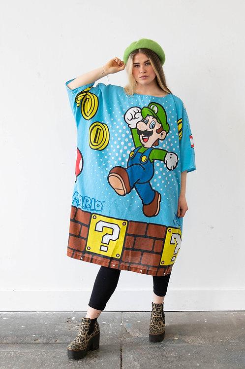 Oversized Super Mario Batwing Dress (Luigi)