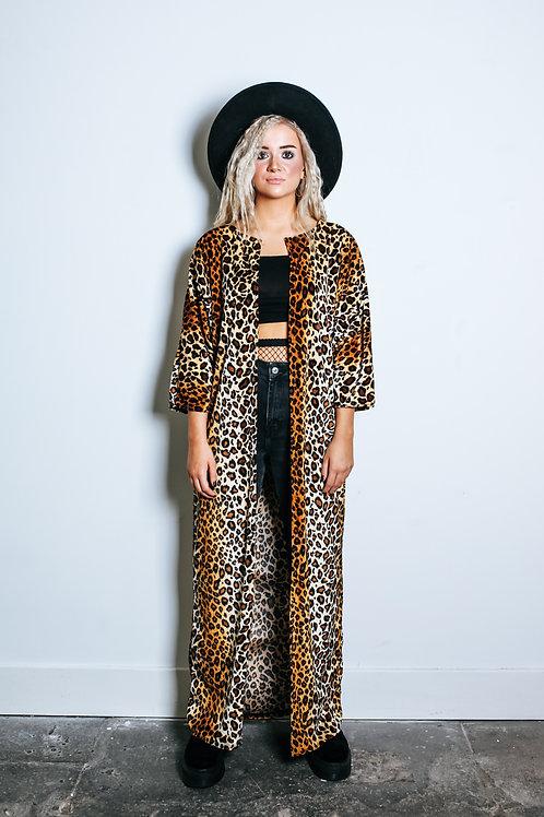 Wild Thing Leopard Print Kimono