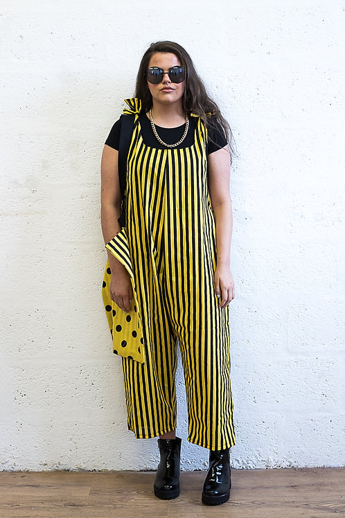 Black & Yellow Jumpsuit