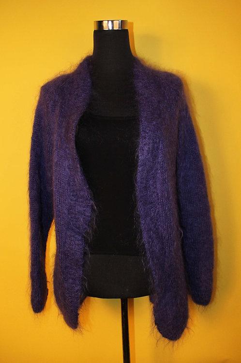 1980s Vintage Oversized Purple Cardigan
