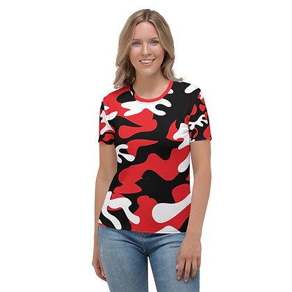IH3 Women's Red Camo Tee