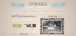 O'Mara Reunion Home Screen